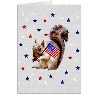 July 4th Squirrel Greeting Card