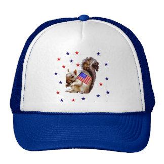 July 4th Squirrel Trucker Hat
