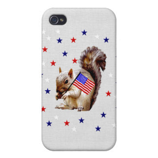 July 4th Squirrel iPhone 4/4S Covers