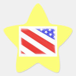 July 4th Star Star Sticker