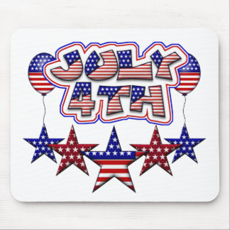 July 4th Stars Mouse Pad