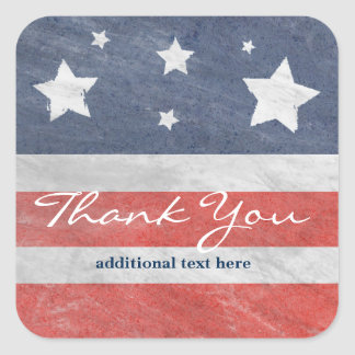 July 4th Stars & Stripes USA Party Favor Sticker