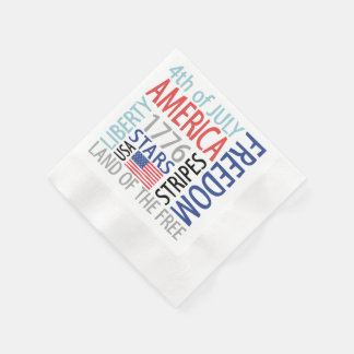July 4th disposable napkins