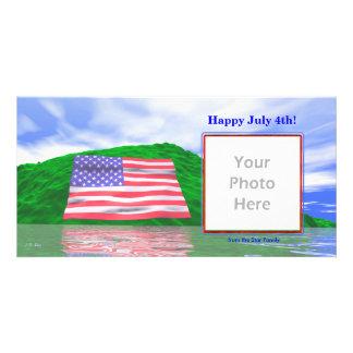July 4th - U.S. Flag Landscape Card