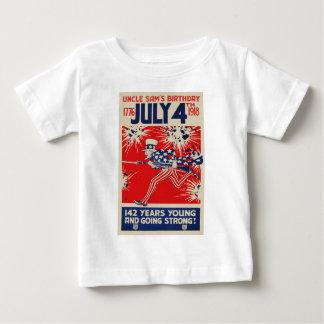 July 4th Uncle Sam's Birthday WWI Propaganda Baby T-Shirt