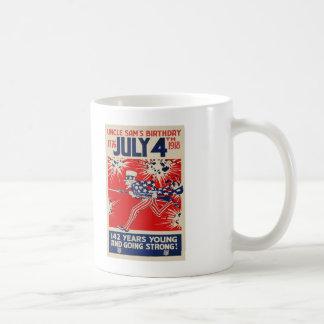 July 4th Uncle Sam's Birthday WWI Propaganda Coffee Mug