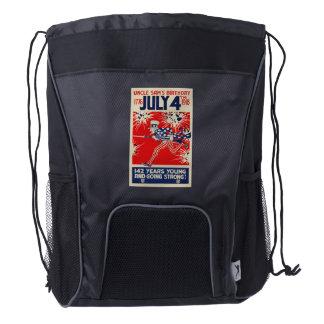 July 4th Uncle Sam's Birthday WWI Propaganda Drawstring Backpack