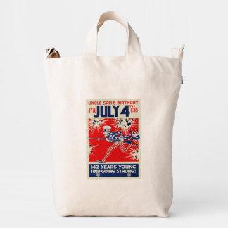 July 4th Uncle Sam's Birthday WWI Propaganda Duck Bag
