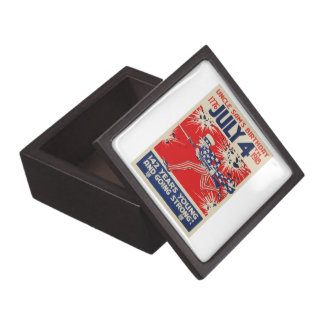 July 4th Uncle Sam's Birthday WWI Propaganda Gift Box