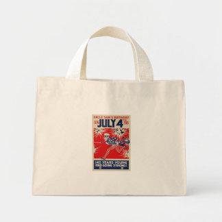 July 4th Uncle Sam's Birthday WWI Propaganda Mini Tote Bag