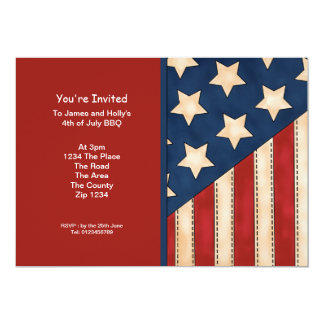 July 4th USA Flag Party Card