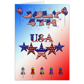 July 4th USA Greeting Card