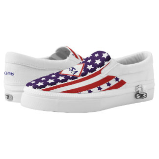 July 4th USA Independence Stars & Stripes (cust.) Slip-On Sneakers