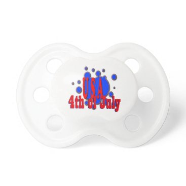 USA Themed July 4th USA Pacifier
