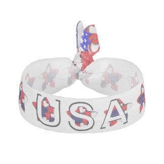 July 4th USA Ribbon Hair Ties