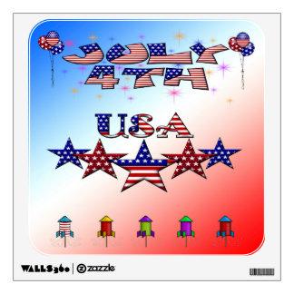 July 4th USA Wall Decal