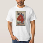 July 4th, Vintage WPA Poster Dupage County Tee