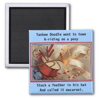 July 4th vintage yankee doodle 2 inch square magnet