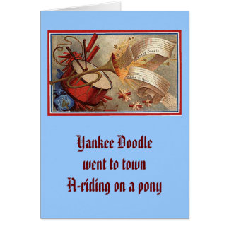 July 4th vintage yankee doodle card