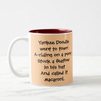 July 4th vintage yankee doodle Two-Tone coffee mug