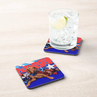 July 4th - Vizsla - Reagan Beverage Coasters