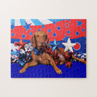 July 4th - Vizsla - Reagan Jigsaw Puzzle