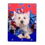 July 4th - Westie - Polo Dry Erase Boards