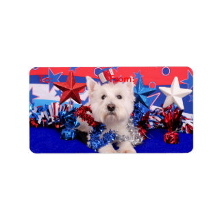 July 4th - Westie - Polo Label