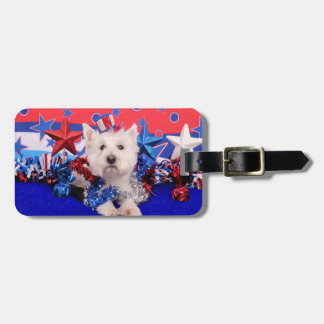 July 4th - Westie - Polo Tags For Luggage