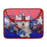 July 4th - Westie - Polo Sleeves For MacBooks