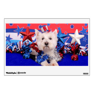 July 4th - Westie - Polo Wall Graphics