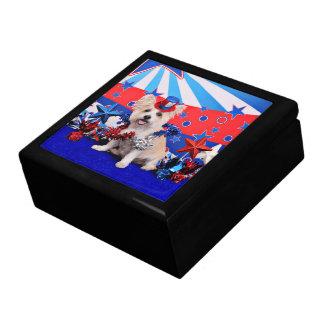 July 4th - Westie X - Lady Jewelry Box