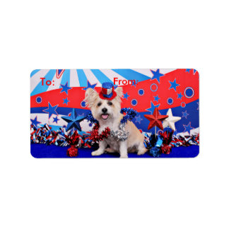 July 4th - Westie X - Lady Address Label