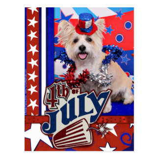 July 4th - Westie X - Lady Postcard