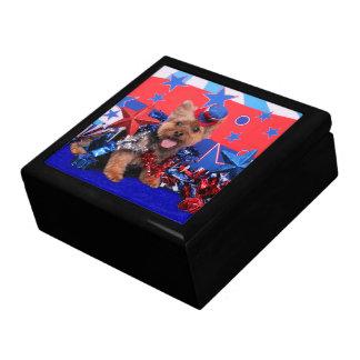 July 4th - Yorkie - Jake Jewelry Boxes