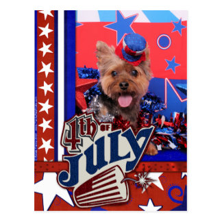 July 4th - Yorkie - Jake Postcard