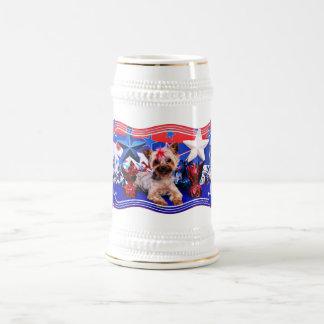 July 4th - Yorkie - Kinsey Beer Stein