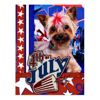July 4th - Yorkie - Kinsey Postcard