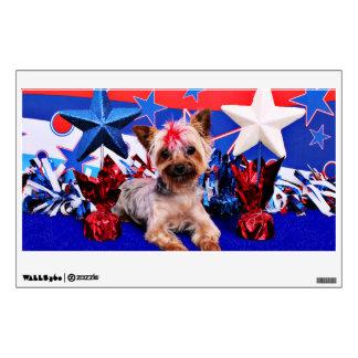 July 4th - Yorkie - Kinsey Wall Sticker
