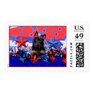 July 4th - Yorkie - Stella Stamps