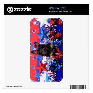July 4th - Yorkie - Stella iPhone 4 Decals