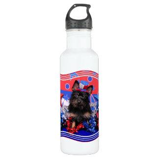 July 4th - Yorkie - Stella Water Bottle