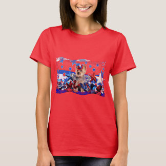 July 4th - Yorkie - Vinnie T-Shirt