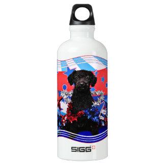 July 4th - YorkiePoo - Max Aluminum Water Bottle