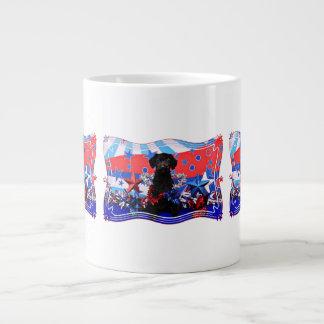 July 4th - YorkiePoo - Max Giant Coffee Mug
