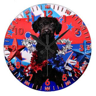 July 4th - YorkiePoo - Max Large Clock