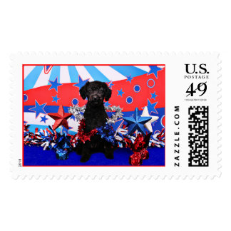 July 4th - YorkiePoo - Max Postage Stamps