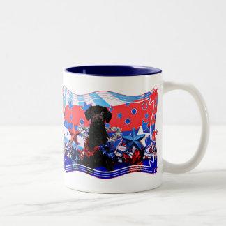 July 4th - YorkiePoo - Max Two-Tone Coffee Mug