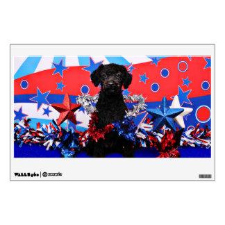 July 4th - YorkiePoo - Max Wall Graphic