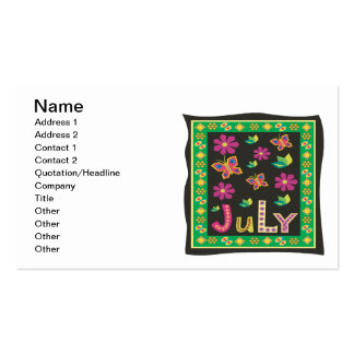 July 5 Double-Sided standard business cards (Pack of 100)
